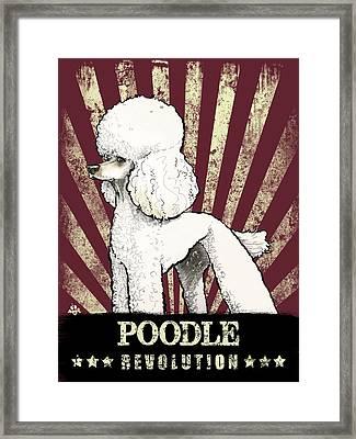 Poodle Revolution Framed Print