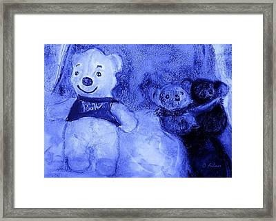 Pooh Bear And Friends Framed Print