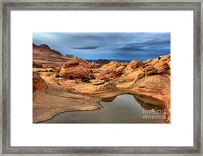 Pool Among The Petrified Dunes Framed Print by Adam Jewell