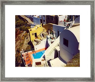 Pool Framed Print by Andrea Simon