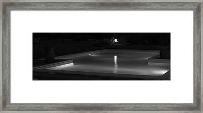 Pool At Night 2 Framed Print