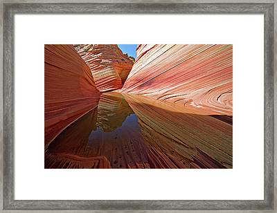 Framed Print featuring the photograph Pool At The Wave by Wesley Aston