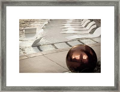 Pool Ball Framed Print