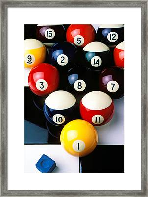 Pool Balls On Tiles Framed Print