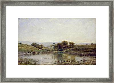 Pool Framed Print by Charles-Francois Daubigny