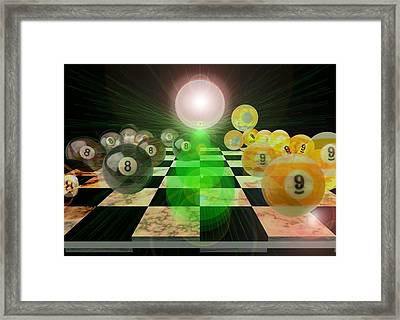 Pool Chess Framed Print by Draw Shots