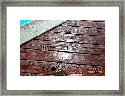 Pool Deck Framed Print by Jason Freedman