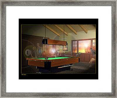 Pool Ghosts Framed Print by Draw Shots