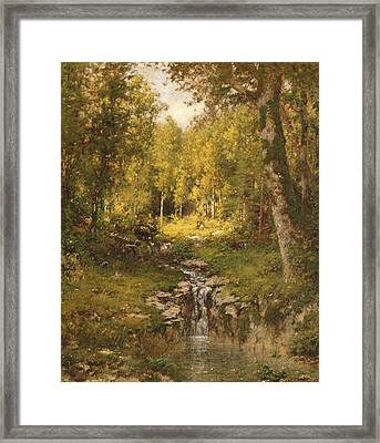 Pool In The Woods Framed Print by Alexander Helwig  Wyant