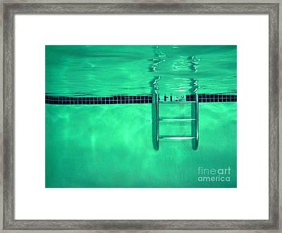Pool Ladder Framed Print by Ben Schumin