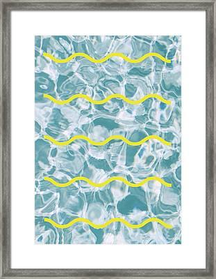 Pool Lines Framed Print
