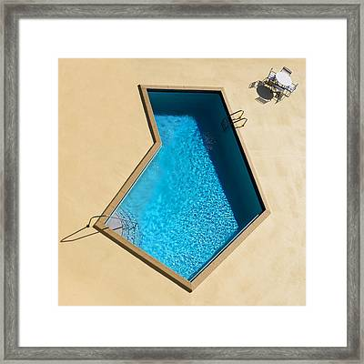 Pool Modern Framed Print by Laura Fasulo