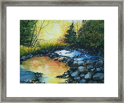Pool Of Gold Framed Print