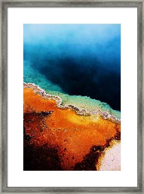 Pool Of Many Colors Framed Print by Russell  Barton