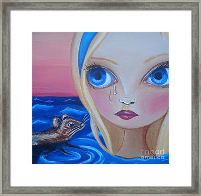 Pool Of Tears Framed Print by Jaz Higgins