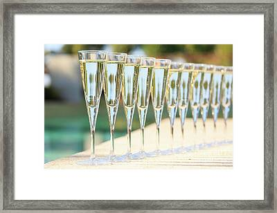 Pool Party Framed Print