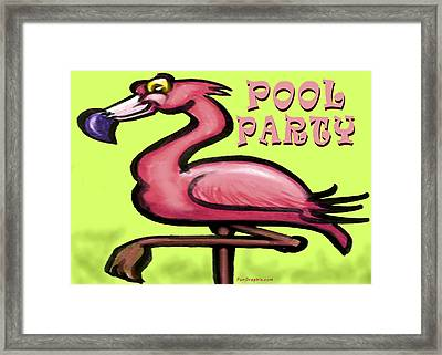 Pool Party Framed Print by Kevin Middleton