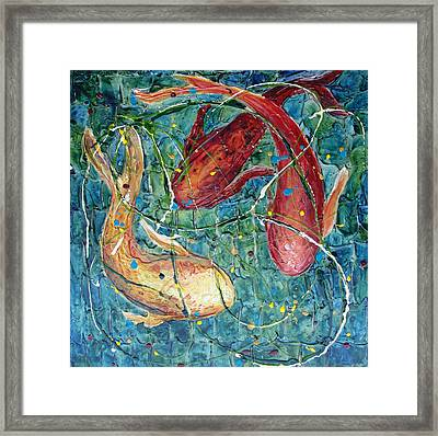 Framed Print featuring the mixed media Pool Party by Phyllis Howard