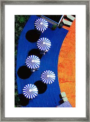 Pool Side Framed Print by Paul Wear