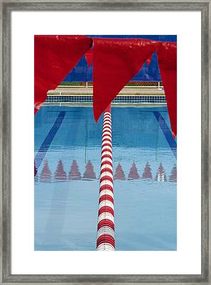 Pool Framed Print by Skip Hunt