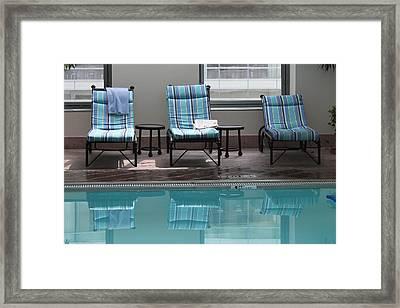 Pool Time Framed Print by Lauri Novak