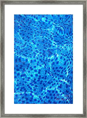 Pool Water Patterns I Framed Print