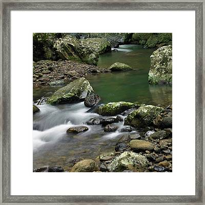 Pools And Eddies Framed Print by Odille Esmonde-Morgan