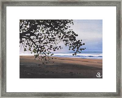 Pools Beach Framed Print by Sarah Lynch
