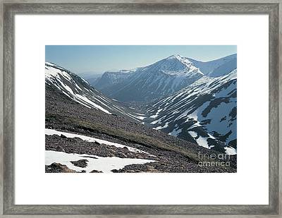 Pools Of Dee And The Angels Peak Framed Print