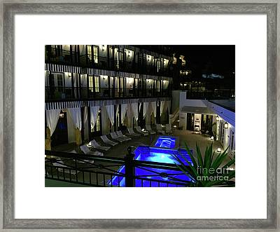 Poolside At The Pearl Framed Print by Megan Cohen