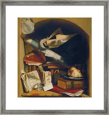 Poor Artist's Cupboard Framed Print by Charles Bird King