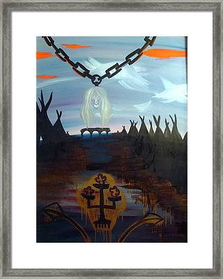 Poor Barbara And The Indians Framed Print by Zsuzsa Sedah Mathe