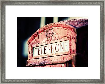Poor Communication Framed Print by Todd Klassy