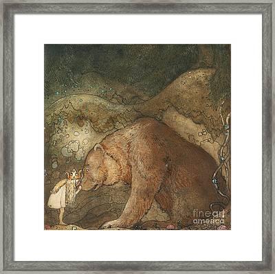 Poor Little Bear Framed Print by Celestial Images