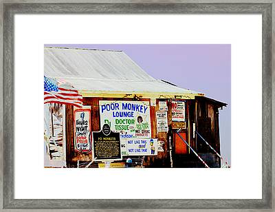 Poor Monkey's Juke Joint Framed Print