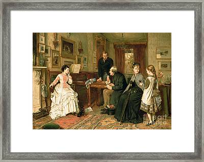 Poor Relations Framed Print by George Goodwin Kilburne