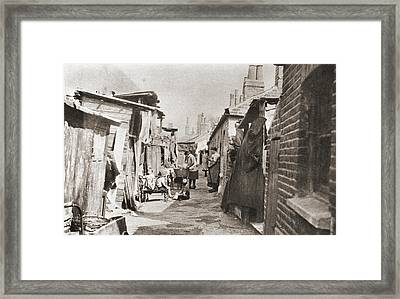 Poor Tenements In England During The Framed Print
