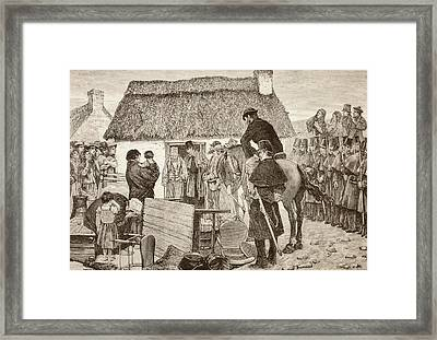Poor Tennants Being Evicted From Their Framed Print