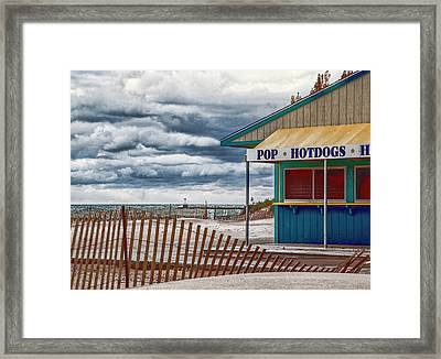Pop And Hotdogs Framed Print