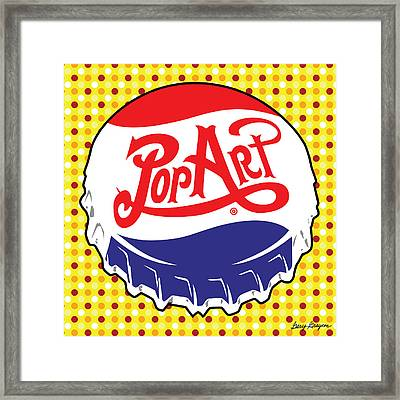 Pop Art Bottle Cap Framed Print