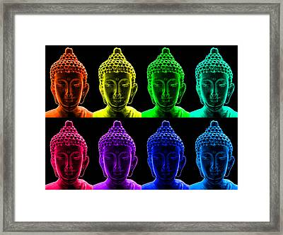 Pop Art Buddha  Framed Print by Fabrizio Troiani