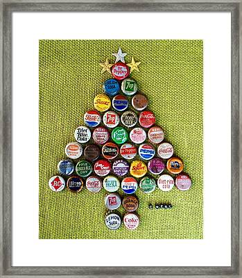 Pop Art Christmas Tree Framed Print
