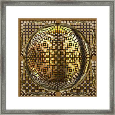 Pop Art Circles Framed Print