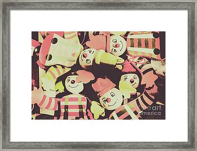 Pop Art Clown Circus Framed Print