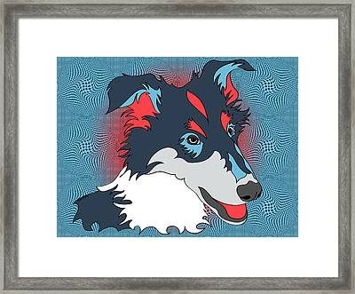 Pop Art Collie - Dog Art - Wpap  Framed Print