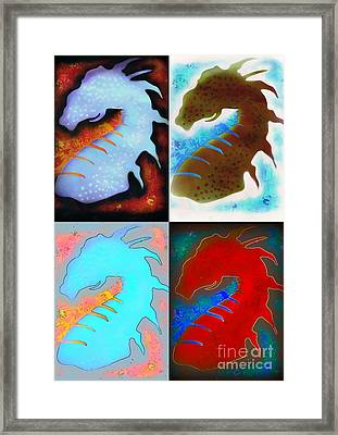 Pop Art Dragons Framed Print