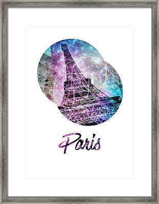 Pop Art Eiffel Tower Graphic Style Framed Print by Melanie Viola