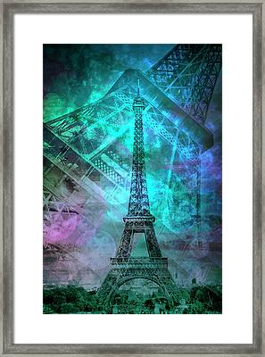 Pop Art Eiffel Tower II Framed Print by Melanie Viola