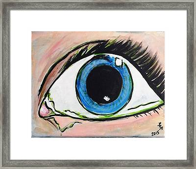 Pop Art Eye Framed Print
