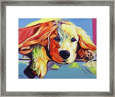 Pop Art Golden Retriever Puppy Framed Print